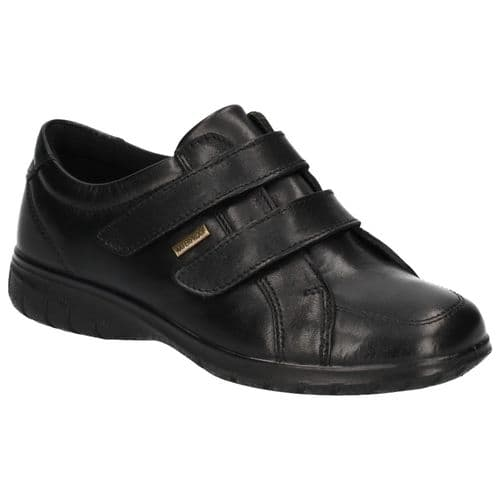 Cotswold Haythrop Touch Fastening Ladies Shoes Black